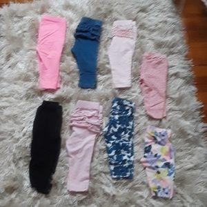 8 Pairs of Baby Girl Leggings